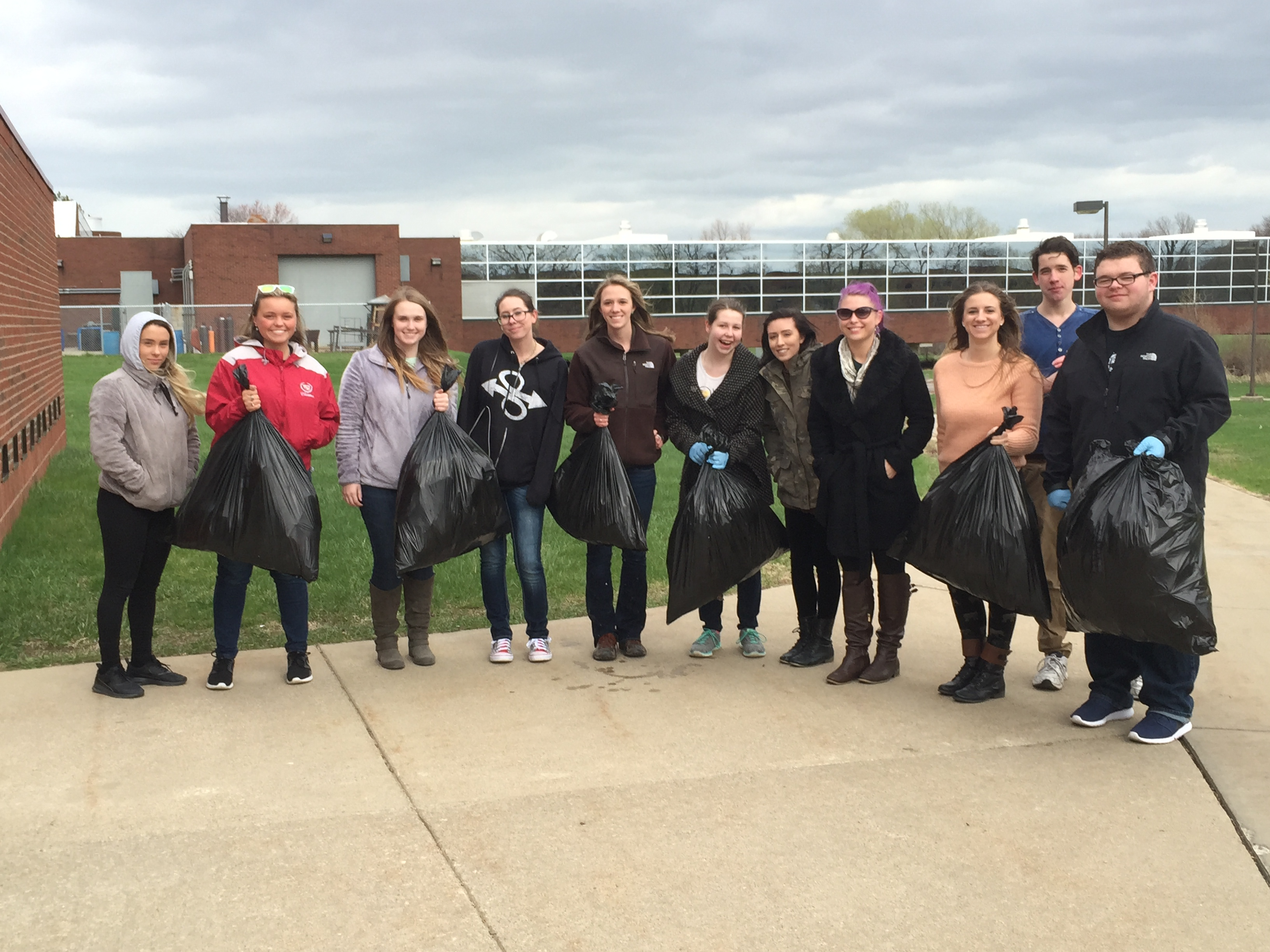 Earth Day labors net 45 pounds of trash (and a lot of cigarette butts)
