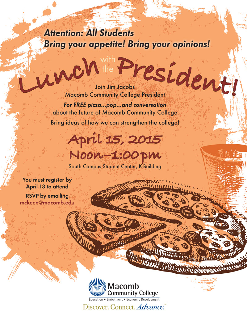 College president is springing for lunch
